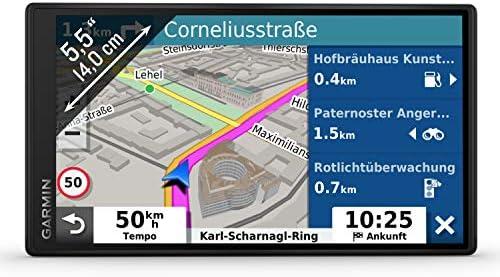 Garmin Drivesmart 55 Mt D Eu Navi Frameless Touch Display 3d Navigation Maps And Live Traffic Navigation Car Hifi