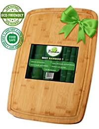 Get #1 Organic Bamboo Cutting Board & Kitchen Chopping Board with Groove! 18