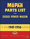 1947-1956 Dodge Power Wagon Parts Book Reprint