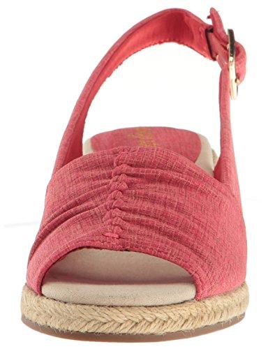 Print Bitte Damen Sandal Metallic Easy Espadrille Street Wedge Rot Z1nBfw