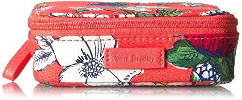 - Vera Bradley Women's Iconic Travel Pill Case - Signature coral floral