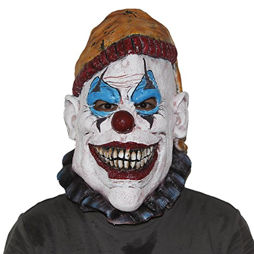 GN Netcom Scary Killer Insano face Overhead Latex Halloween Mask