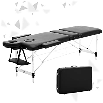ac831a9ba19b Image Unavailable. Image not available for. Colour: JL Comfurni ® Portable Massage  Table 3 Section All-Inclusive Folding Couch Bed ...