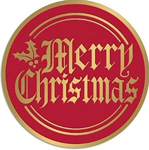 Merry Christmas Foil RED & Gold Seals 2