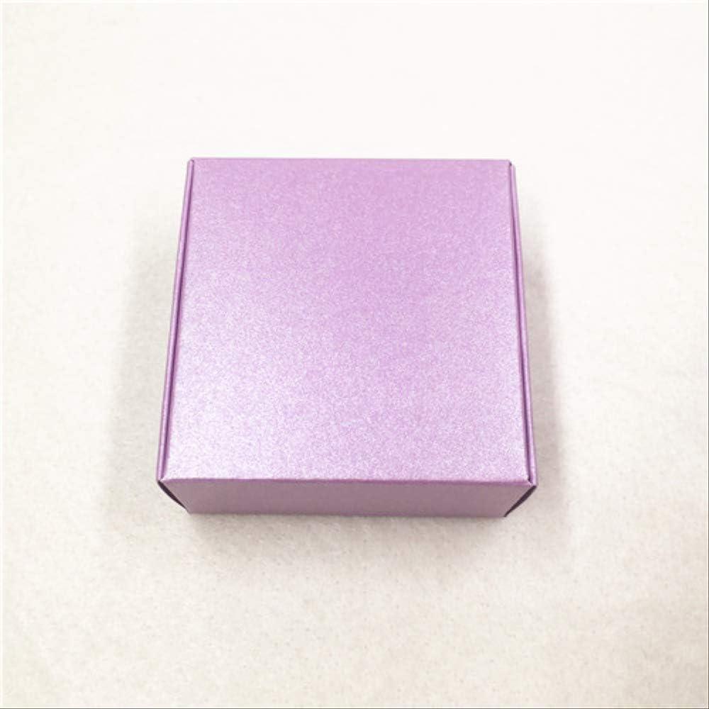 Caja Regalo Bonitas Para 20pcs Cajas De Almacenamiento De Cartón De Papel Kraft Con Ventana Caja De Regalos Para Productos/Favores Regalos Caja De Embalaje Cajas Populares Púrpura: Amazon.es: Hogar