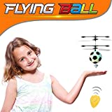 RC Flying Ball , RC Infrared Induction Helicopter Colorful Ball Built-in Shinning With Remote Control for Kids, Teenager (Football)