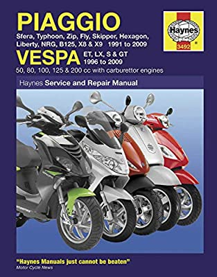 Haynes Manuals N/Amanual Piaggio Scooters 91 09 M3492 New