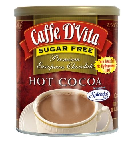 Caffe D'Vita Sugar Free Hot Cocoa, 10 Ounce (Hot Cocoa Mix No Sugar)