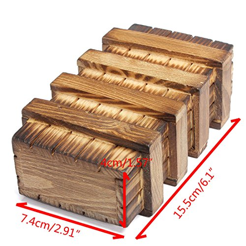 Chinese Vintage Classic Brain Magic Trick Wooden Puzzle Box Secret Drawer Gift (Gift Boxes Calgary)