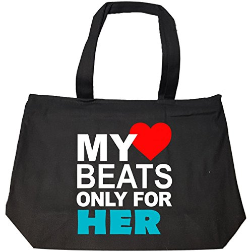 My Heart Beats For Her Her Best Gifts For Couples - Tote Bag With Zip by jcluinc