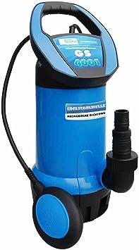 Schwarz Blau 230 V G/üde 94601 Schmutzwassertauchpumpe GS 4001