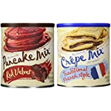 Red Velvet Pancake Mix and Traditional French Crepe Mix Bundle
