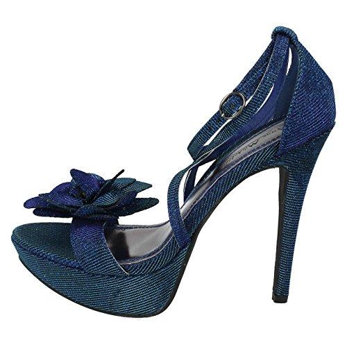 Anne Michelle , Damen Sandalen Blau