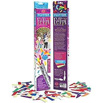 """Fun-Filled Large Flutter Fetti Wands Party Supplies, Multicolored, Paper, 12"""", Pack of 3"""