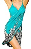 Spikerking Women's Fashion Sarongs style Beachwear Ice Silk Bikini Cover up,Green
