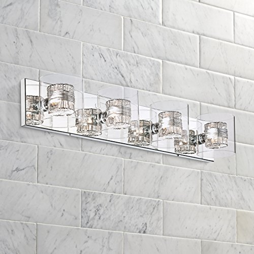 Miraculous Possini Euro Design Wrapped Wire 30 3 4 Wide Bathroom Light Home Interior And Landscaping Staixmapetitesourisinfo