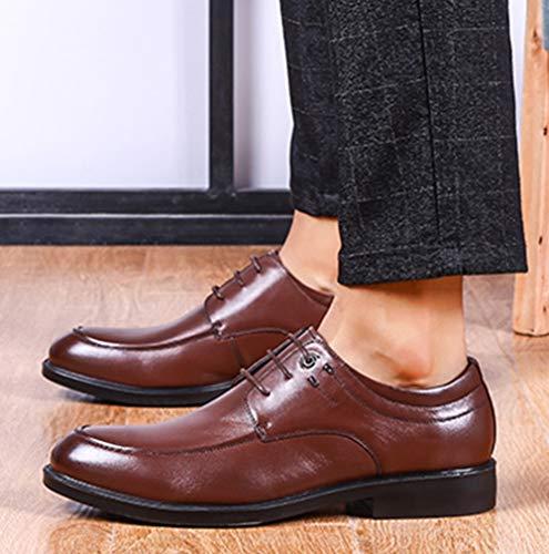 Brown In Da Derby Pelle Classiche Marrone Stringate Uomo Scarpe Scarpe Scarpe Nero xXfOFPFq