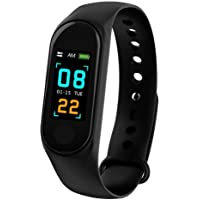 TECHPOOL Smart Fitness Band 3 Activity Tracker, Bluetooth 4.2, Fitband with OLED Heart Rate Monitor, Health Activity, Pedometer Smart Bracelet Wristband for All Android and iOS Smartphones