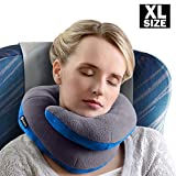 wheelchair head support - BCOZZY Extra Large Chin Supporting Travel Pillow - Supports the Head, Neck and Chin in Maximum Comfort in Any Sitting Position. A Patented Product. XL Adult Size, GRAY