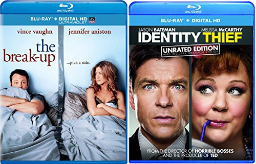 Identity Thief & The Break-up Double Feature Blu Ray Fun Comedy movie Set Combo Double Edition