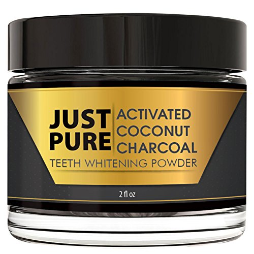 Teeth Whitening Activated Coconut Charcoal Powder – 2 ozs - Natural Kit - No Strips, Gel, Pen or - Just Hut
