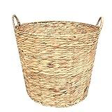 Water Hyacinth Round Log Basket