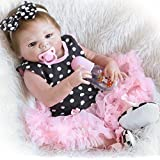 """NPK Handmade Reborn Baby Dolls Girl 22"""" look real Full Body Silicone Washable Toy Doll Anatomically Correct Gift Set for Ages 3+"""