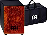 Meinl Percussion MCAJ100BK-CC+ Cafe Cajon in Camphor Burl Finish with Internal Snares and FREE Gig Bag