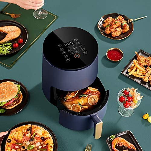 N / A Friteuse à air, Pot Intelligent Multifonctionnel Domestique, Grande capacité de 4,5 litres, Machine à Frites Automatique sans friture, Facile à Laver,