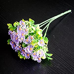 FYYDNZA Colorful Spring Silk Artificial Flower For Wedding Decoration Of Cheap Room Photo Props Decorative Flowers,Purple 110