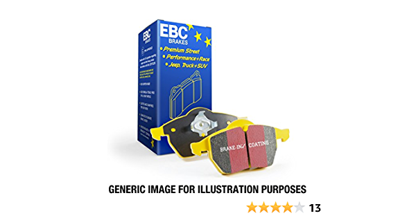 REAR EBC DP41160R YELLOWSTUFF ULTIMATE RACE BRAKE PADS