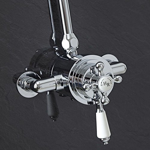 Dual Control Exposed Valve (Exposed Brass Chrome Plate Traditional Thermostatic Dual Control Shower Faucet Valve)