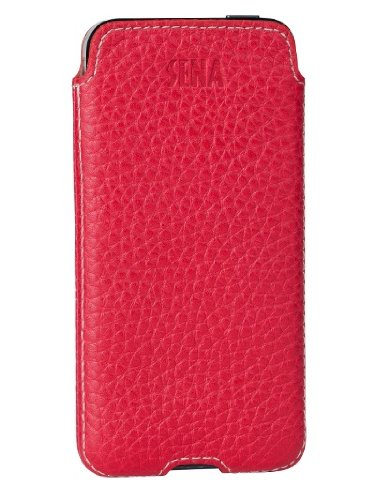 Sena Cases Ultraslim Access for iPhone 5S/5 - Retail Packaging - Red/Ecru