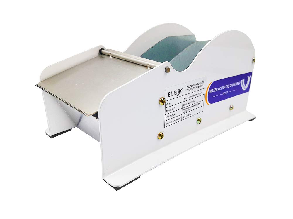 Water Activated Tape Dispenser- Elepa Manual Kraft Tape Dispenser,3.5-Inch Wide,Ideal for Low-Volume Carton Sealing by Water-Activated Tape by ELEPA