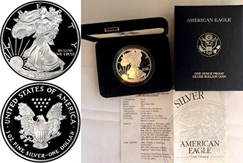 2002 2002 W 1oz Proof Silver Coin $1 American Eagle Un coin Good