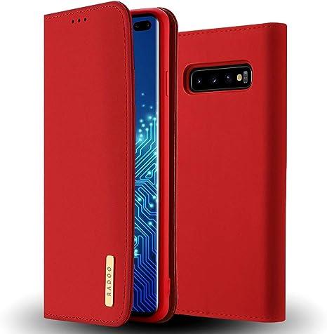 Radoo Galaxy S10 Hülle Premium Echtes Leder Klapphülle Elektronik