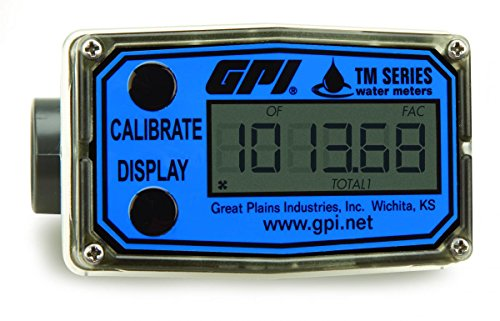 GPI FLOMEC TM075, PVC Turbine Flowmeter for Use with Wate...
