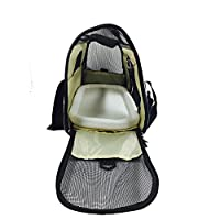 Pet Travel Carrier, Soft Sides and Airline Approved Pet Bags with Fleece Bed, Perfect for Small Dogs and Cats --- Khaki