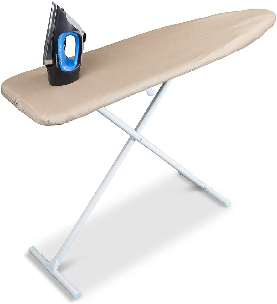 Sunbeam Scorch Resistant Solid Iron Ironing Board Cover 15 x 54 Brown