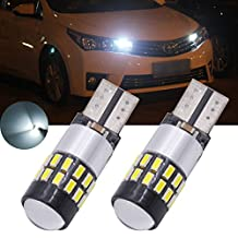 TUINCYN 2-Pack 300 Lumens T10 2825 194 W5W 168 192 175 912 921 LED Bulb CanBus Erro Free 3014 30SMD Backup Reverse Tail Lights Parking License Plate LED Bulbs DC 12V 2.7W White
