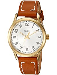 Women's TW2R23000 New England Brown/Gold Leather Strap Watch