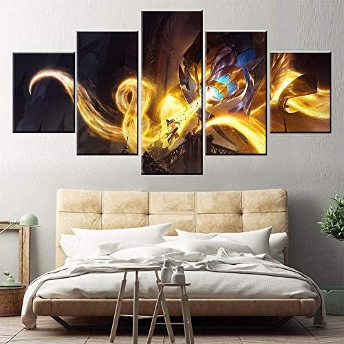 5 Vechtspel Canvas Gedrukt Schilderij Muurdecoratie Hd Foto Kunstwerk Poster