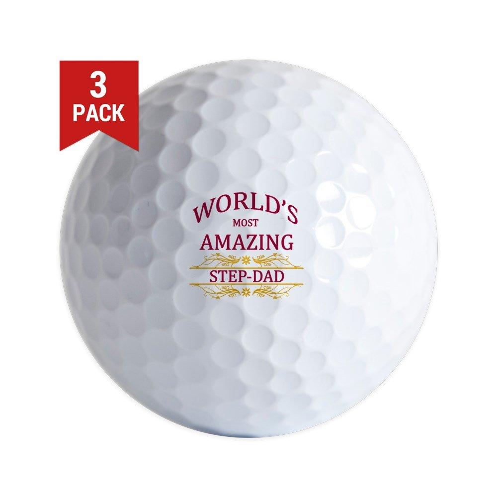 CafePress - Step-Dad - ゴルフボール (3個パック) ユニークなプリントゴルフボール   B0743JXH53