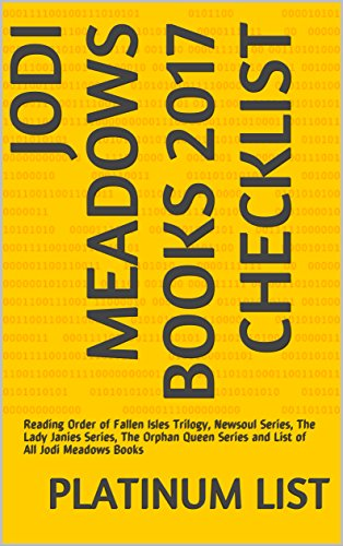 Jodi Meadows Books 2017 Checklist: Reading Order Of