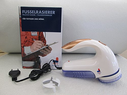 Elektrischer Fusselrasierer für Möbel und Textilien mit Ersatzscherblatt