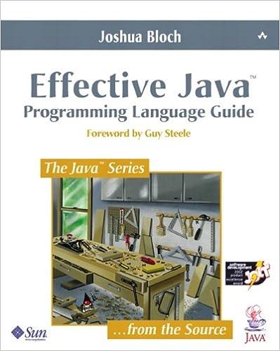 Effective java: programming language guide (java series): joshua.