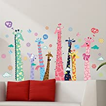 Giraffes Birds English Letters Heart Shapes Wall Decal Home Sticker PVC Murals Vinyl Paper House Decoration Wallpaper Living Room Bedroom Kitchen Art Picture DIY for Children Teen Nursery Baby