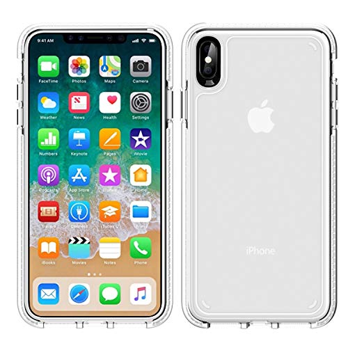 iPhone Xs Max Case,WATACHE Slim Fit Crystal Clear Soft Durable Flexible TPU Rubber Skin Silicone Anti-Slip Protective Case Cover for Apple iPhone Xs Max (6.5