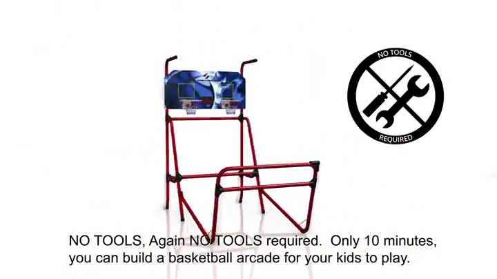 "Sportcraft SIR00733 Quick Set-Up Basketball Arcade 8 Game Modes, 2-Players, Setup Less Than 10 Mins, No Tools Required, Heavy Duty 1"" Steel Tube"