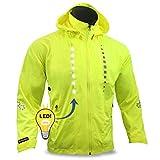 KwikSafety RACER Road Bike Jacket | Hi Vis Street Bike LED Jacket | Yellow L
